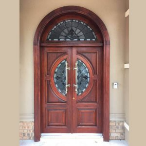 Wood and Wrought Iron Door D07 by The Wooden Blacksmith