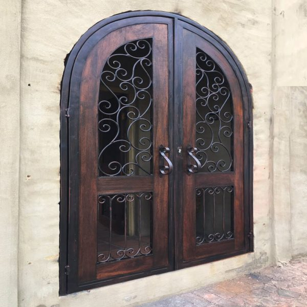 Wood and Wrought Iron Door D06 by The Wooden Blacksmith
