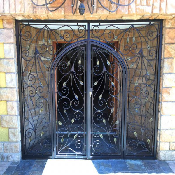 Wrought Iron Security Gate SG03 by The Wooden Blacksmith