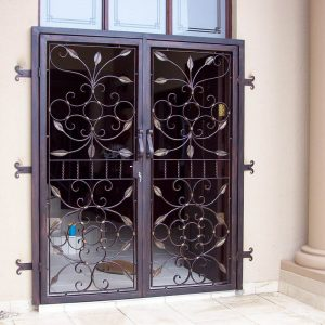 Wrought Iron Security Gate SG01 by The Wooden Blacksmith
