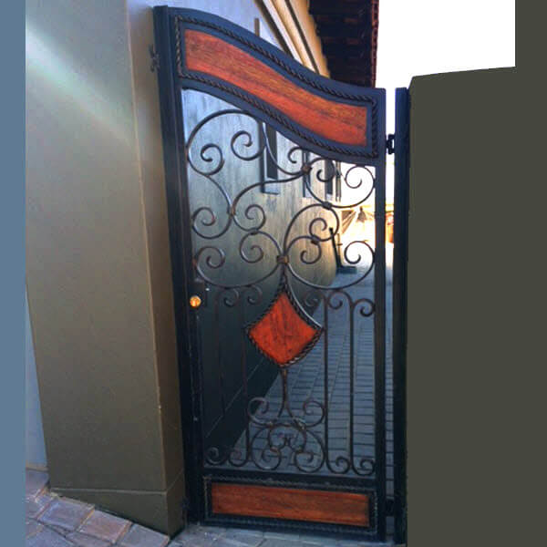 Wrought Iron Security Gate SG04 by The Wooden Blacksmith