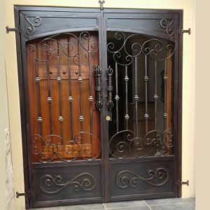 Wrought Iron Security Gate SG07 by The Wooden Blacksmith