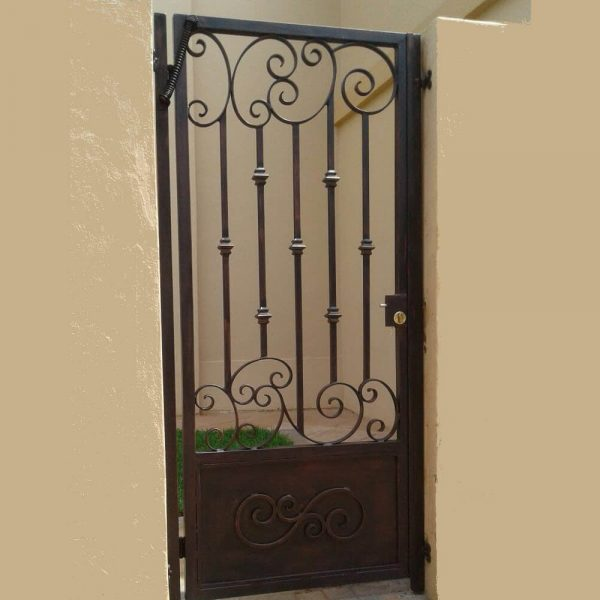 Wrought Iron Security Gate SG08 by The Wooden Blacksmith