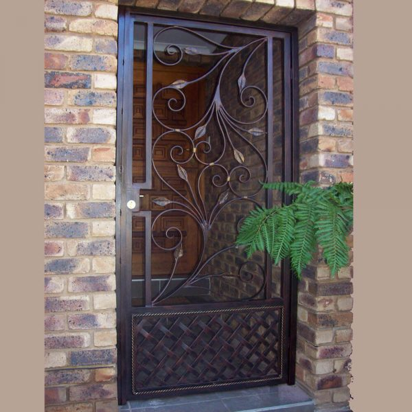 Wrought Iron Security Gate SG09 by The Wooden Blacksmith