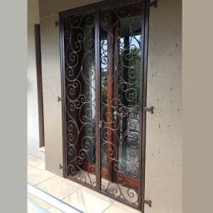 Wrought Iron Security Gate SG05 by The Wooden Blacksmith