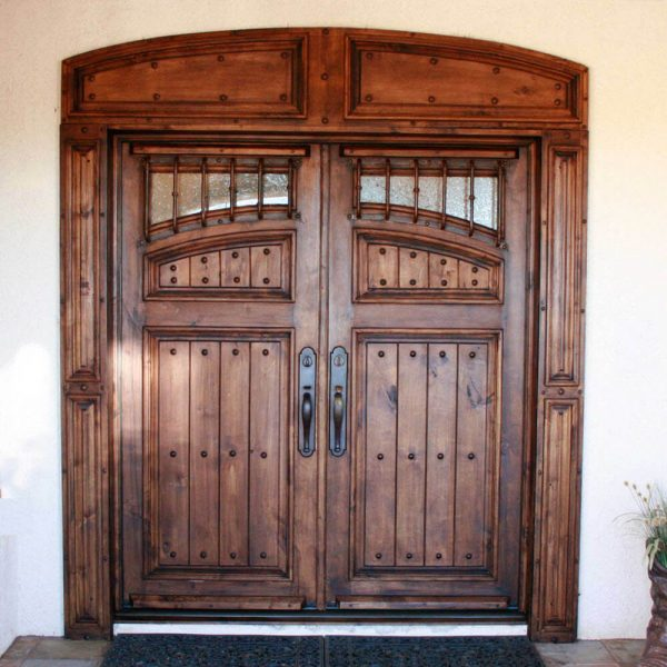 Wood and Wrought Iron Door D04 by The Wooden Blacksmith