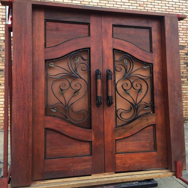 Wood and Wrought Iron Door D05 by The Wooden Blacksmith