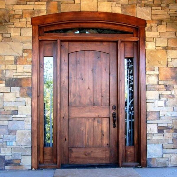 Wood and Wrought Iron Door D02 by The Wooden Blacksmith