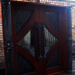Wood and Wrought Iron Door D08 by The Wooden Blacksmith