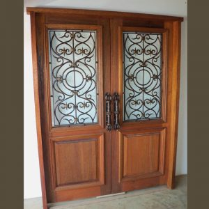 Wood and Wrought Iron Door D09 by The Wooden Blacksmith